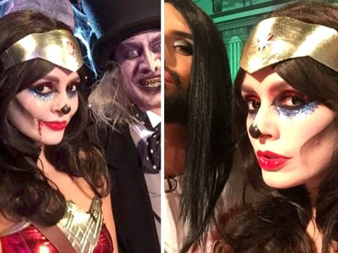 Holly Willoughby looks unrecognisable as ghoulish Wonder Woman for Halloween