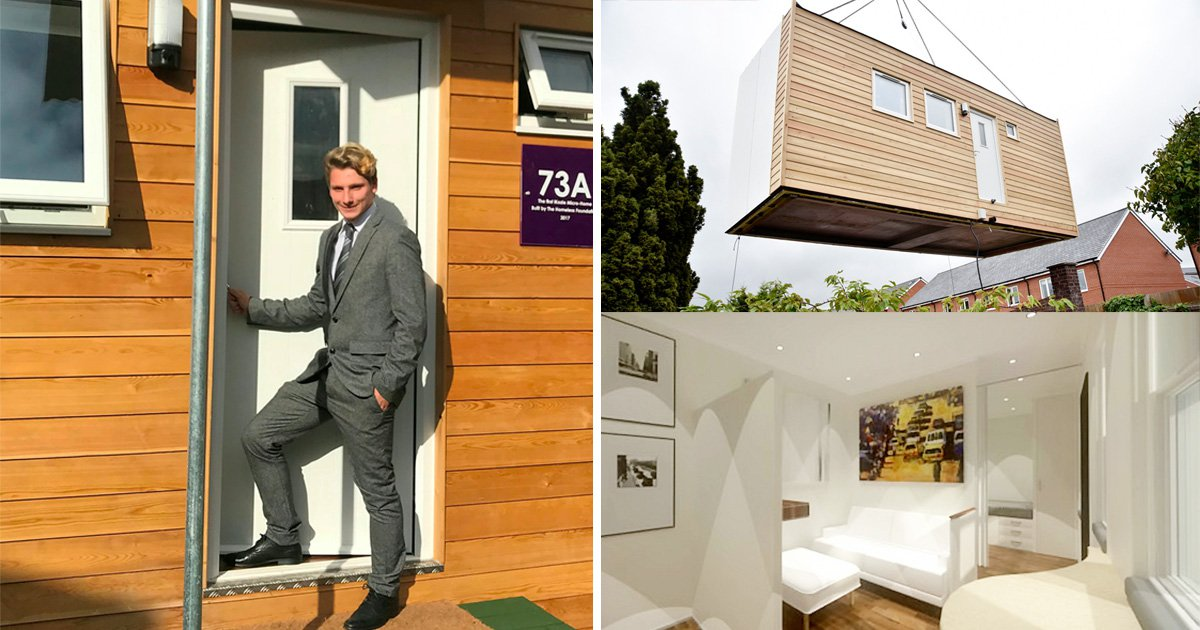 Teenager first to move into UK 'micro home' built to tackle homelessness