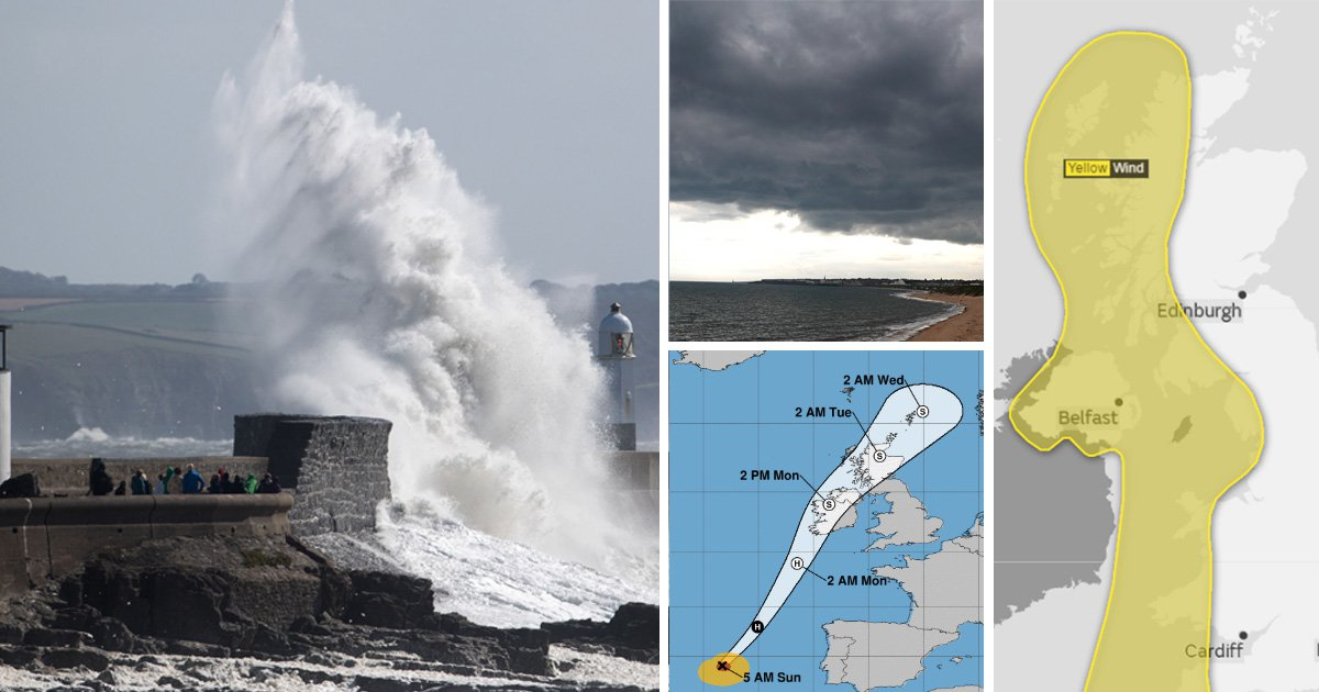 Hurricane Ophelia is upgraded to a Category 3 storm as it moves towards UK