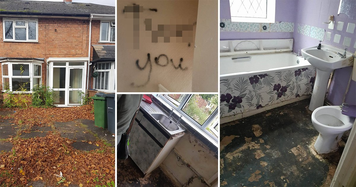 Young family offered council flat with 'tw*t you' scrawled on walls