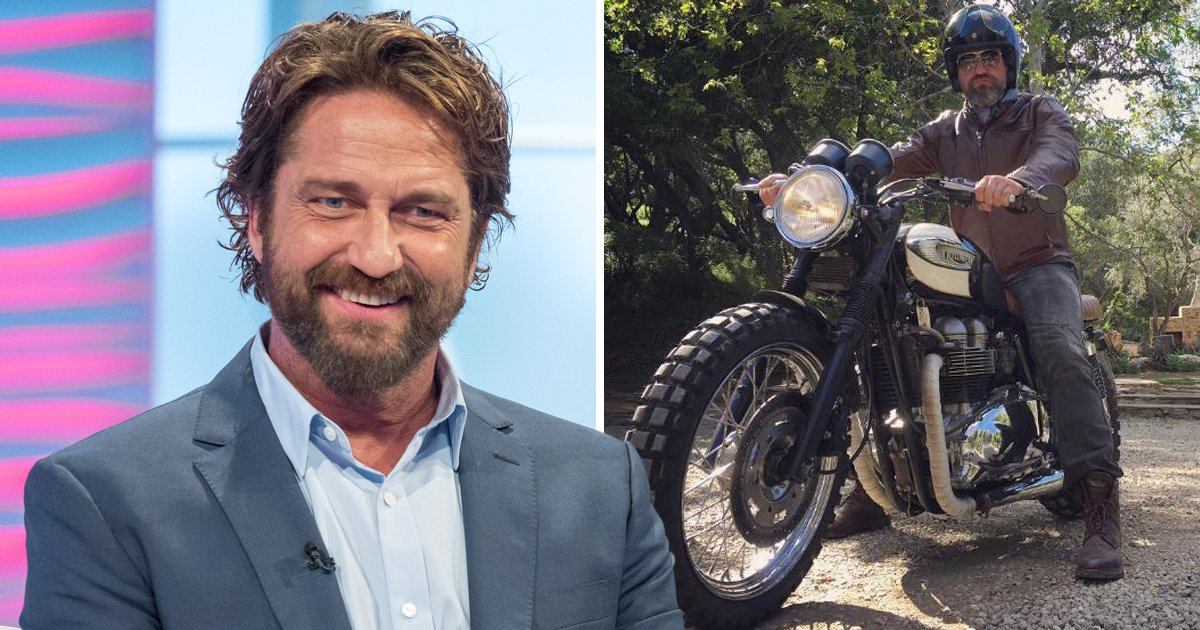 Gerard Butler 'shed tears' after terrifying motorbike accident which has forced him to take daily ice baths