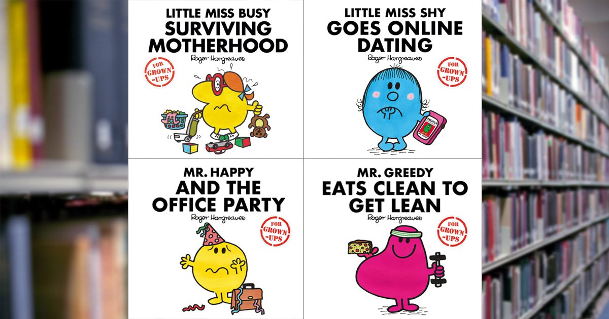 Mr Men and Little Miss are all grown up and it's kinda depressing