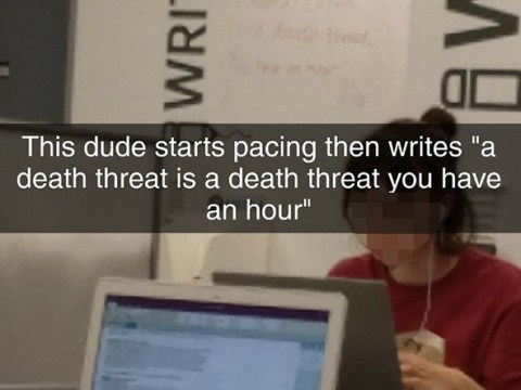 Angry student 'said the next person who spoke in the library would die'