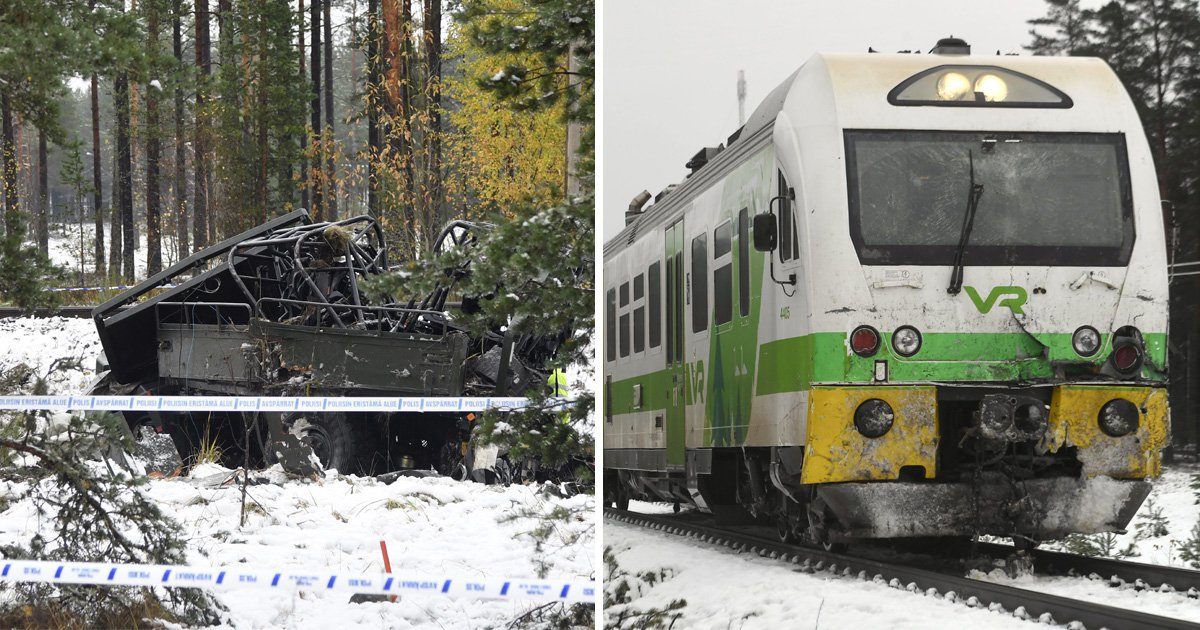 Four dead after train crashes into army vehicle carrying soldiers