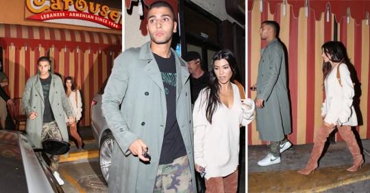 f34744edb60e Kourtney Kardashian and boyfriend Younes Bendjima are more reserved (Picture:  X17/ Backgrid)