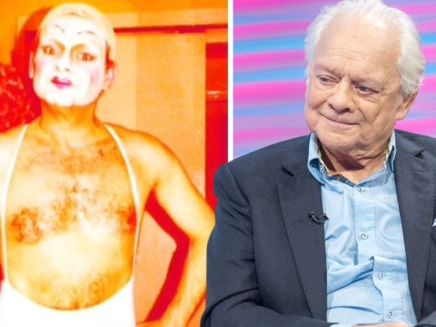 David Jason is about as far from Del Boy as you can get in unearthed drag picture