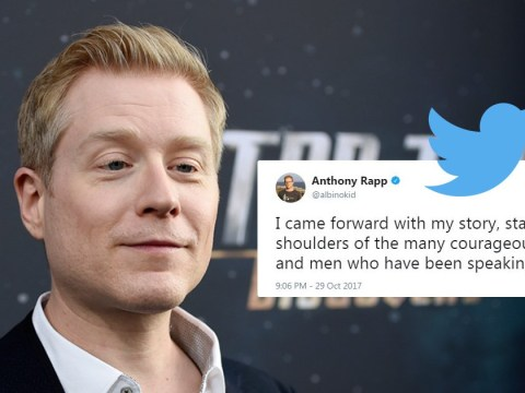 Anthony Rapp responds to Kevin Spacey furore and credits Harvey Weinstein victims for giving him strength to speak out