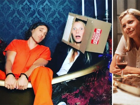 Gwyneth Paltrow basically wins Halloween with her 'head in a box' Seven costume