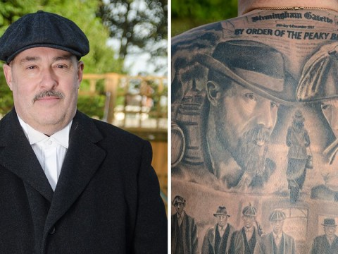 Man gets massive full-back tattoo of scenes from TV show Peaky Blinders