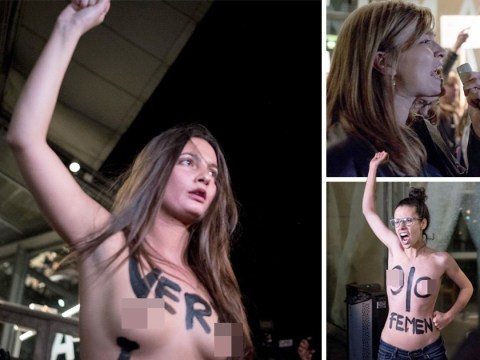 Women activists stage topless protest at Roman Polanski event as new rape allegations reported