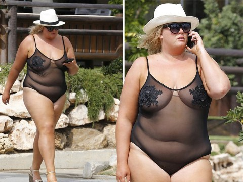 Gemma Collins hits back at critics as she lives her best life in bold see-through swimsuit