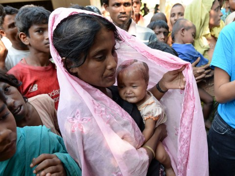 Eight-month-old baby hit in the head with hand grenade fleeing Myanmar