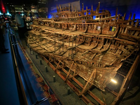 King Henry VIII's Mary Rose has started to 'come down on itself'
