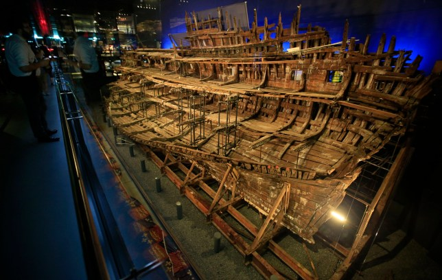 King Henry VIII's Mary Rose has started to 'come down on