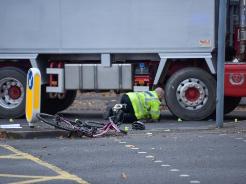 Female cyclist in critical condition after being run over by lorry