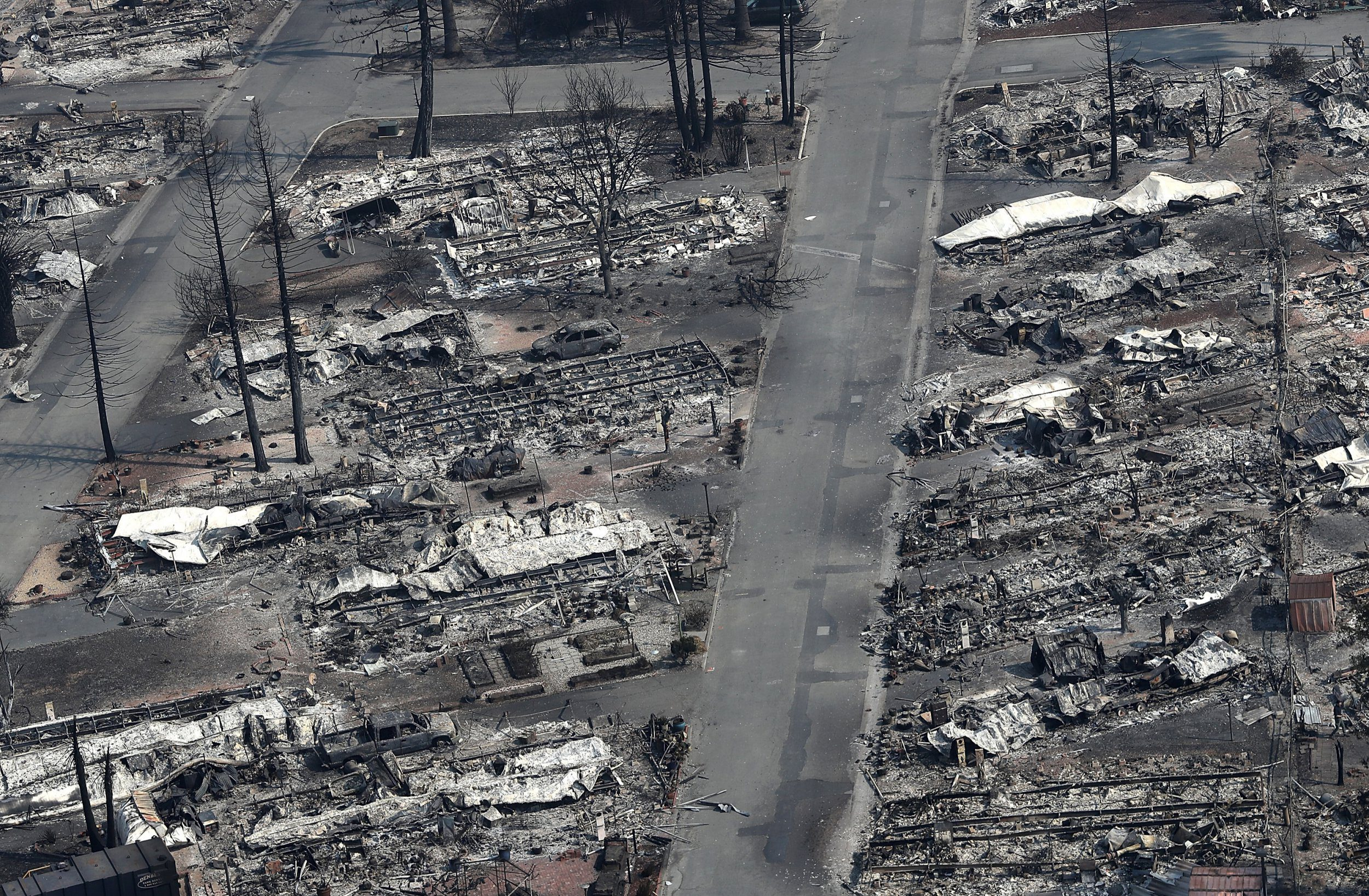 Devastating wildfires make California landscape look like black and white photograph