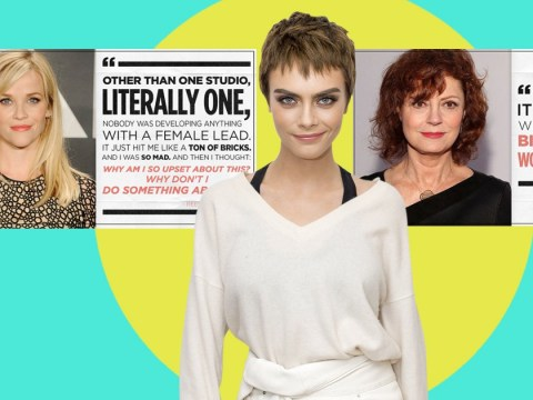 Reese Witherspoon and Susan Sarandon back 'warrior' Cara Delevingne after 'brave' Harvey Weinstein accusations