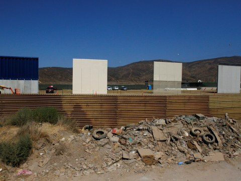 Donald Trump's border wall prototypes are ready and they look angry