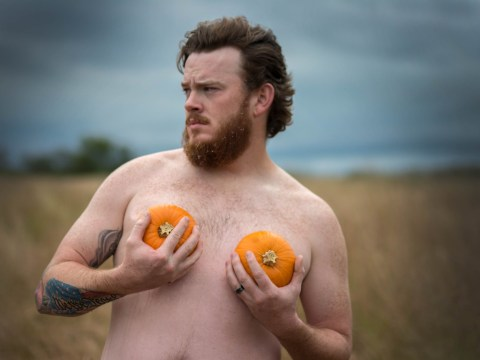 This guy's pumpkin themed dudeoir shoot is the Halloween treat we all deserve