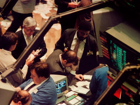 Traders panicking on Black Monday as numerous were taken to hospital