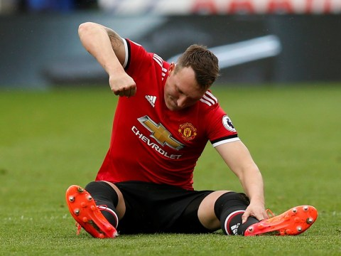 Phil Jones limps out of Manchester United's clash against Huddersfield with leg injury