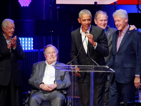 Five former US Presidents make rare appearance together with no Trump in sight