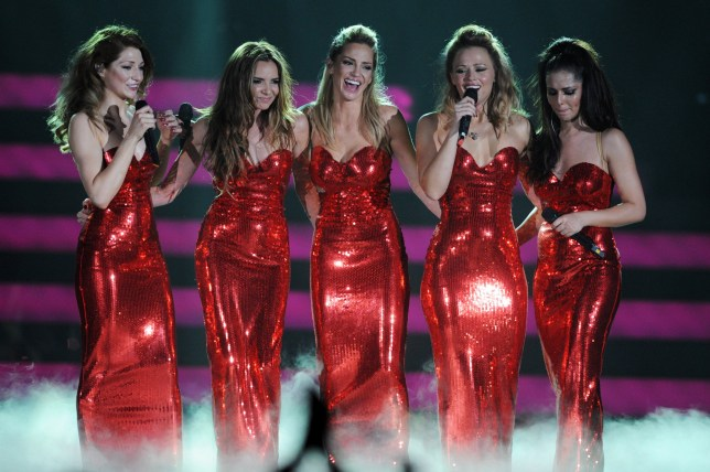 Girls Aloud on stage