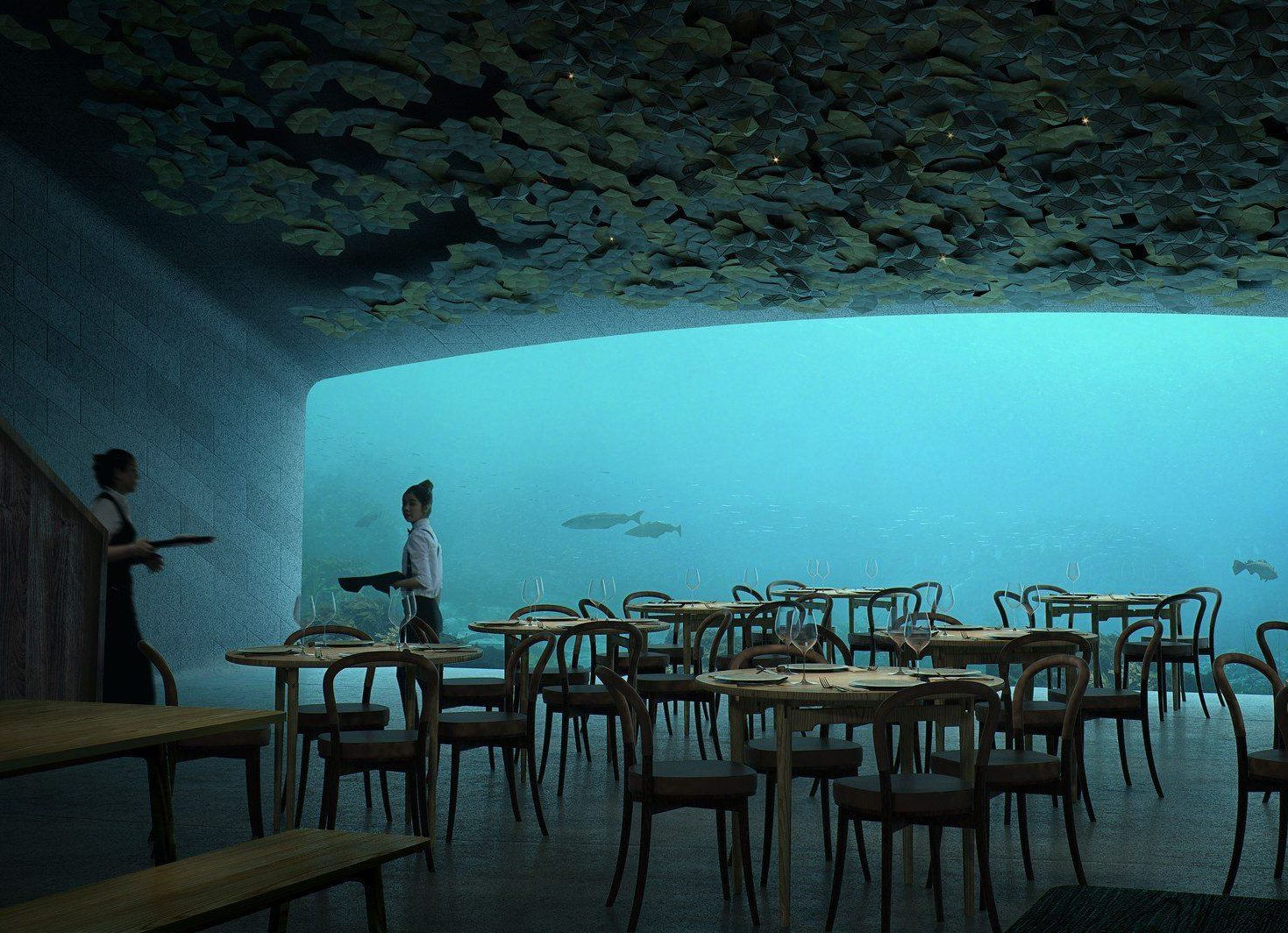 An underwater restaurant is opening on Norway's coastline