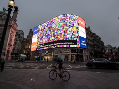 Iconic Piccadilly Circus lights are back after 10 months of darkness