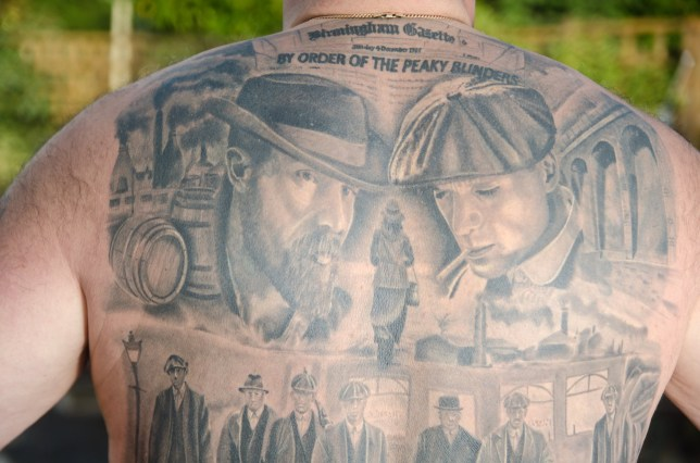 99a23d7072fb2 Man gets massive full-back tattoo of scenes from TV show Peaky Blinders