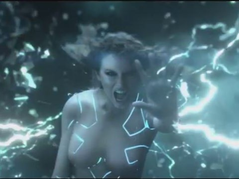 Taylor Swift wields lightning as a nude cyborg in Ready For It music video