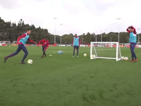 Trent Alexander-Arnold sends Fikayo Tomori for hot dog in England U21 training – Dominic Solanke's reaction is class