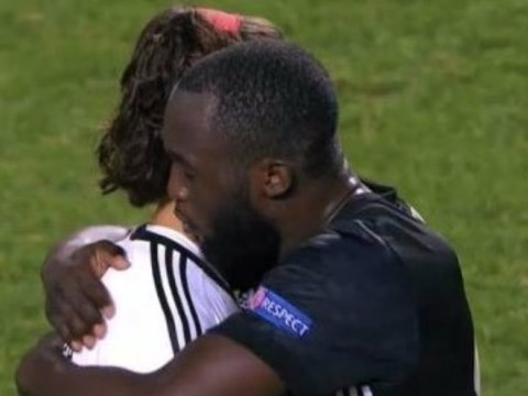 Romelu Lukaku consoles Benfica youngster after error hands Manchester United the victory