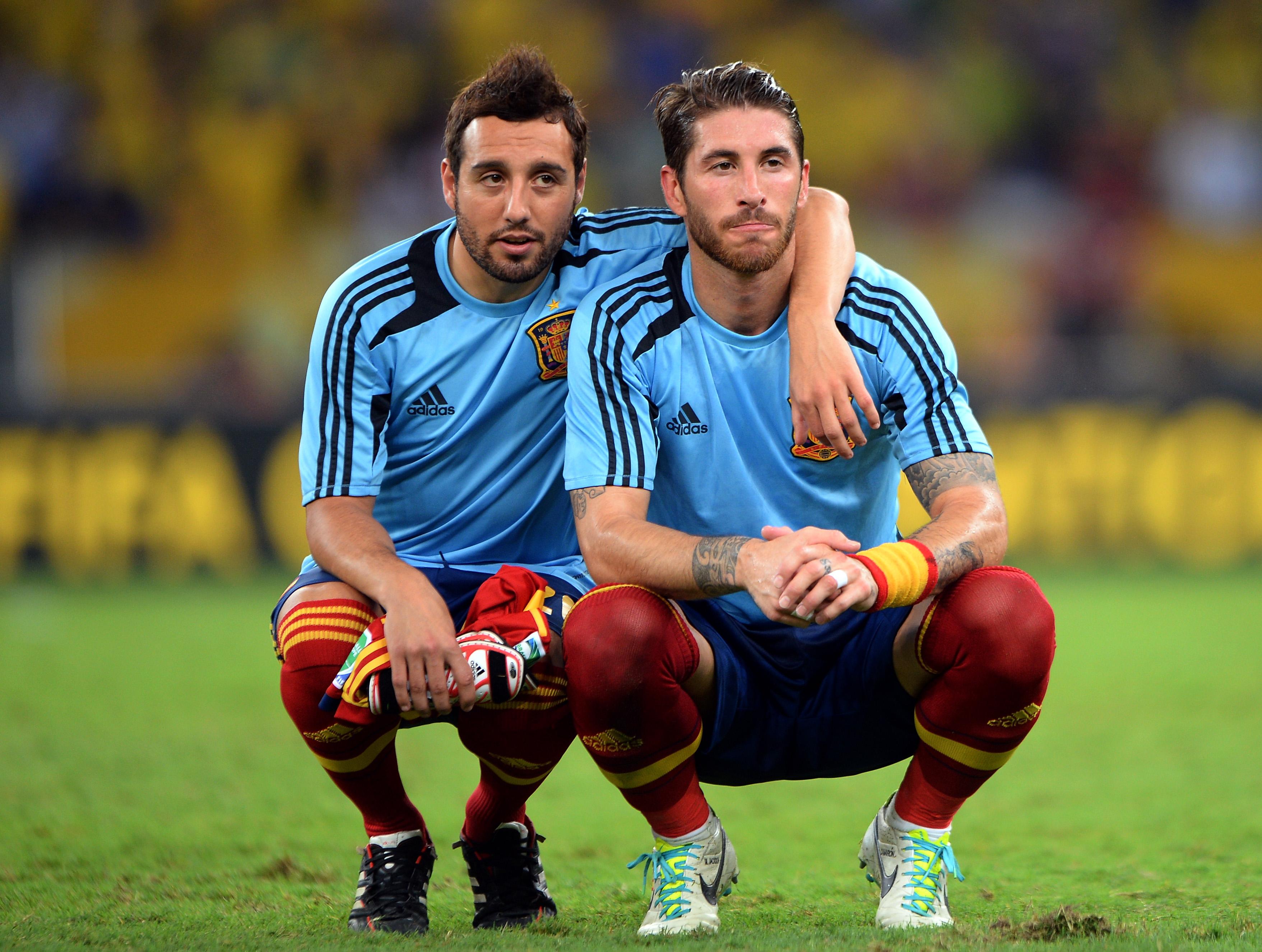 Sergio Ramos and Alberto Moreno show support for Arsenal star Santi Cazorla