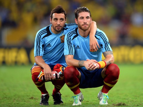 Sergio Ramos and Alberto Moreno show support for Arsenal star Santi Cazorla