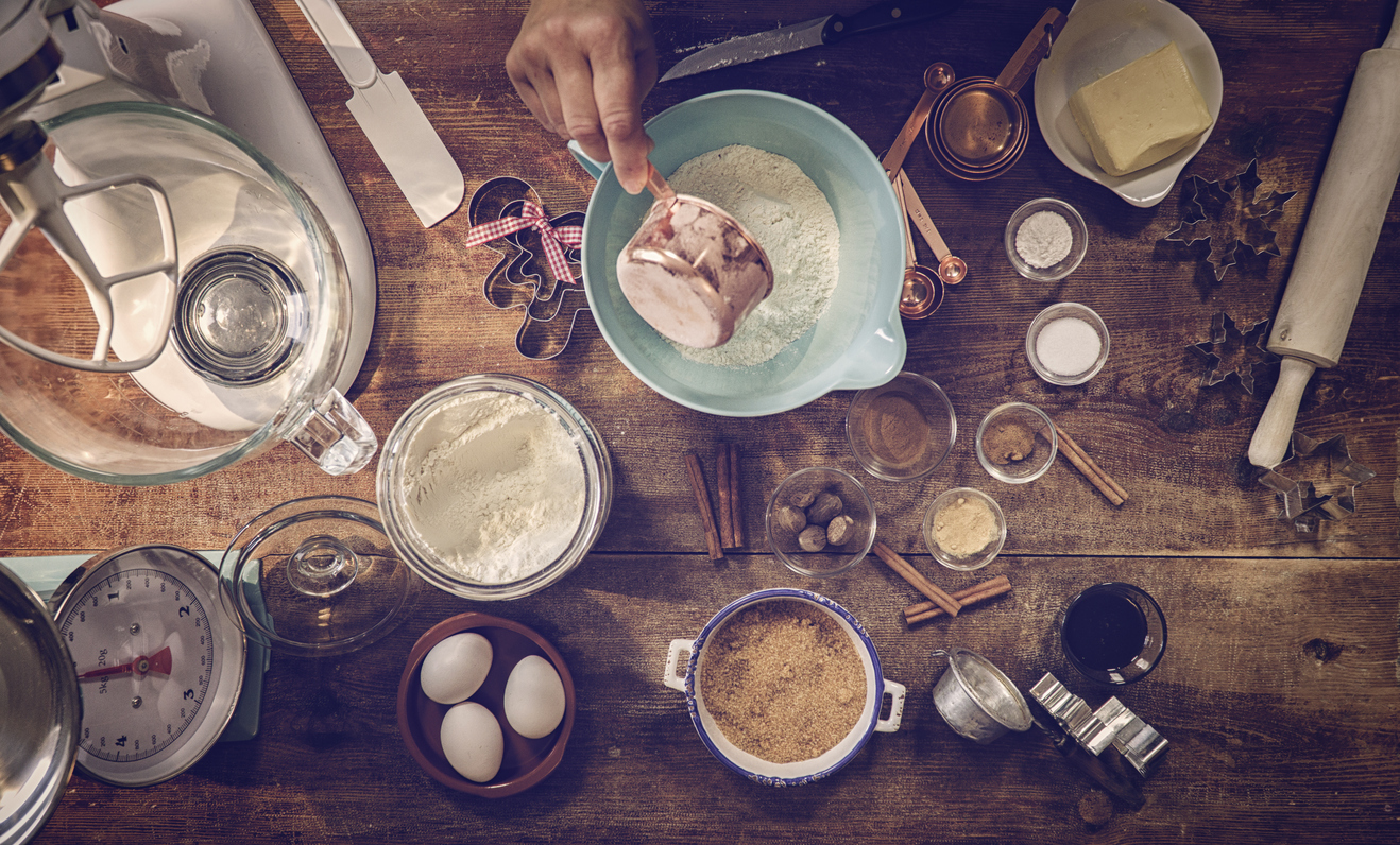 Ingredients and Baking Utensils for Baking Christmas Cookies (Picture: Getty)