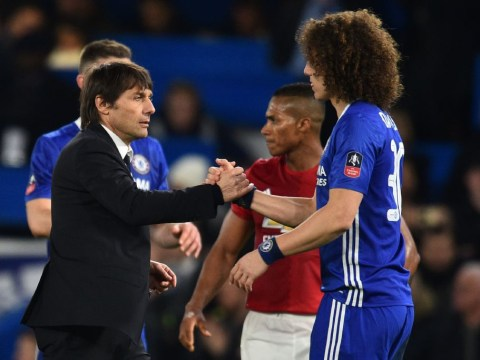 David Luiz and Antonio Conte fell out in September as Chelsea defender returns to training