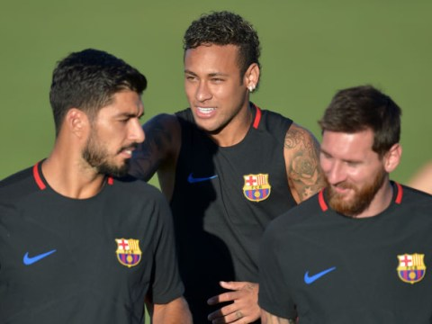 Neymar asks Lionel Messi and Luis Suarez if they would accept him back at Barcelona