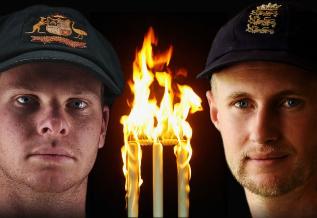 Steve Smith and Joe Root contesting the 2017/18 Ashes