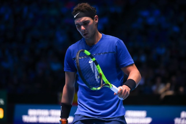 Rafael Nadal at the ATP World Tour Finals - which he had to pull out of with injury