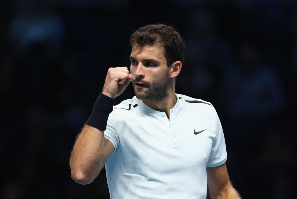 Grigor Dimitrov ends 19-year wait for debutant ATP Finals champion with historic David Goffin win