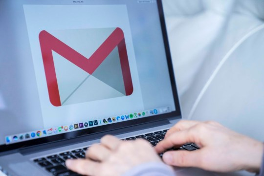 Gmail on a screen