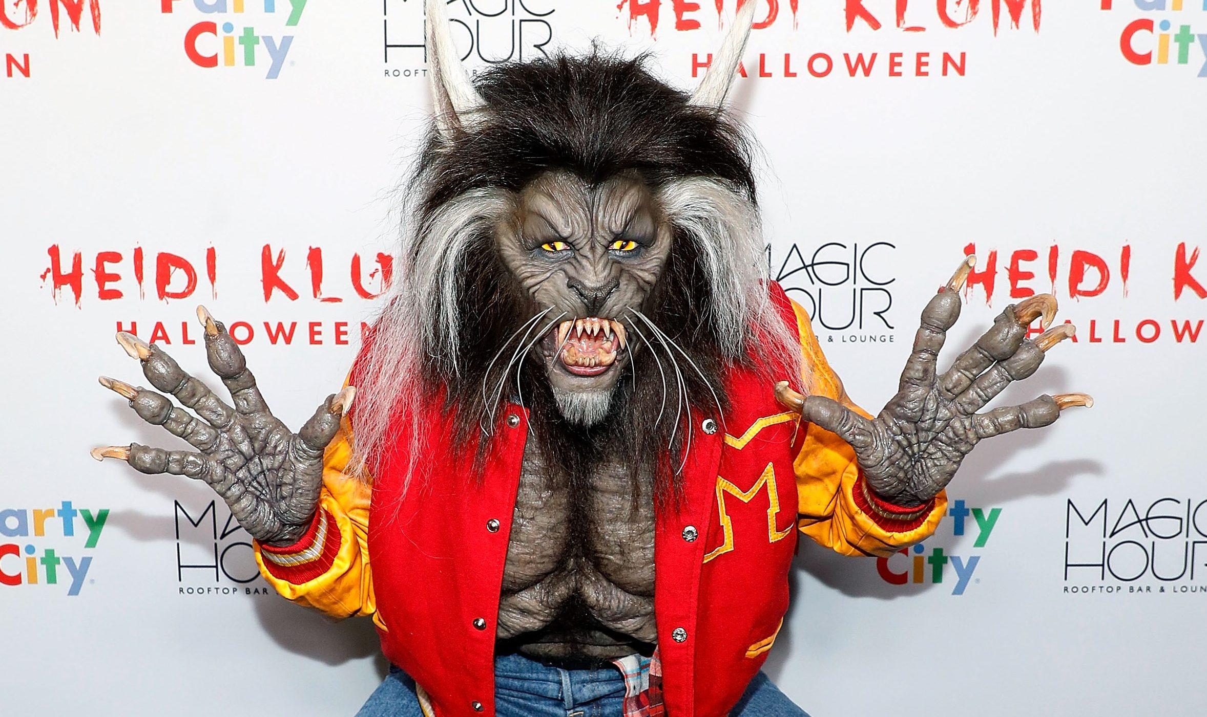 Heidi Klum channels Michael Jackson's Thriller in awesome Halloween werewolf costume
