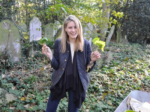 There's a graveyard in London where you can forage for sloes and wild food