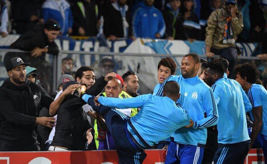 Patrice Evra sacked by Marseille after Uefa announces European ban until summer 2018 for kicking fan in head