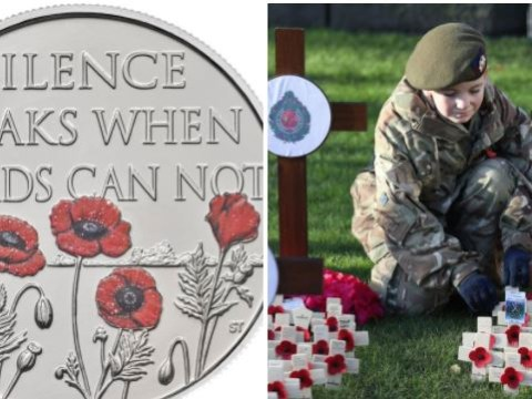 Special £5 Remembrance Day coin inspired by war poem