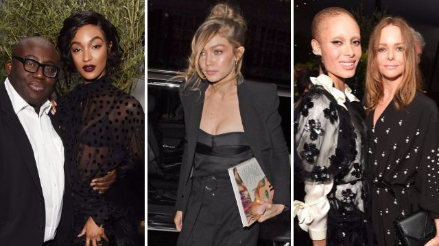 Gigi Hadid and Jourdan Dunn among stars celebrating Edward Enninful's first issue of Vogue at exclusive bash