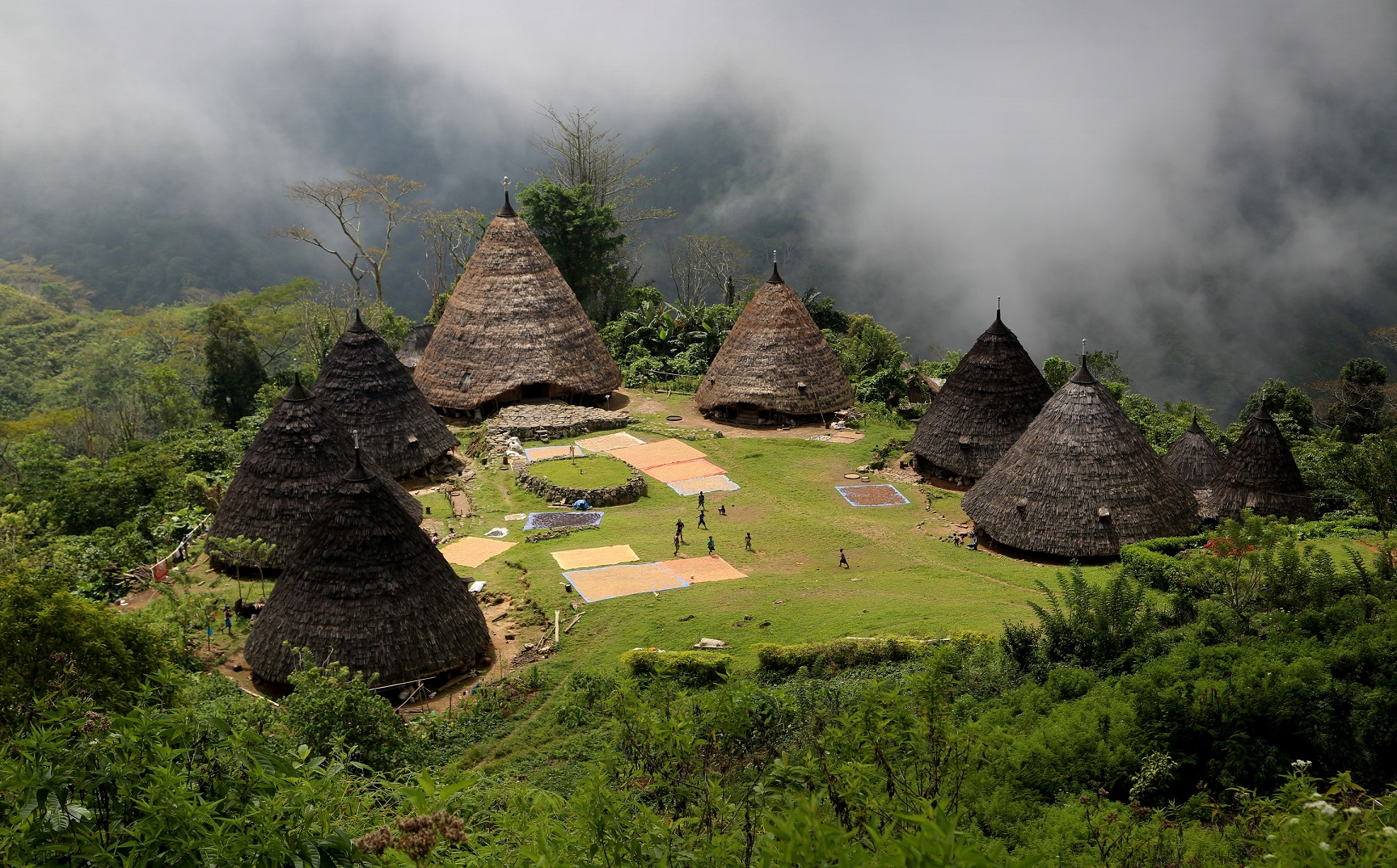 A view of an Indonesian village