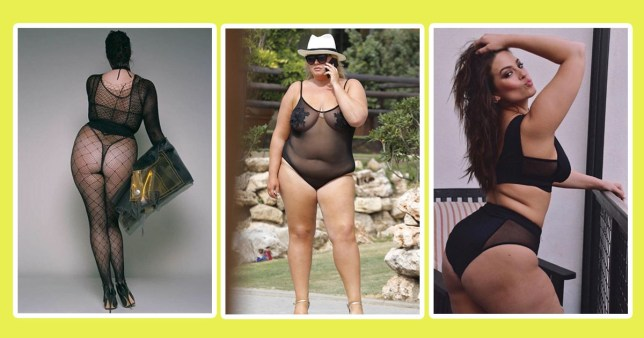 bf954bba85 Plus-size ladies – from Gemma Collins to Ashley Graham – show how wearing  mesh will never go out of fashion