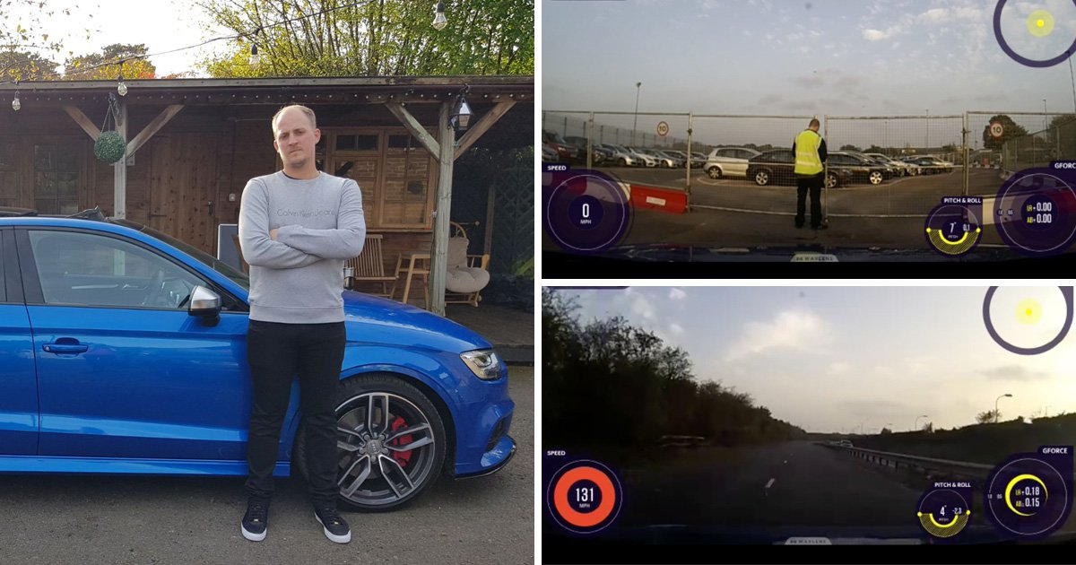 Gatwick Airport valet driver caught driving customer's car at 131mph
